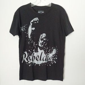 "American Rag Cie Graphic Tee ""Rebeldia"" Medium"